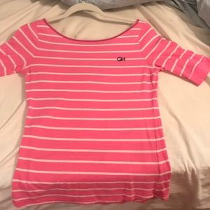 Pink and white t shirt